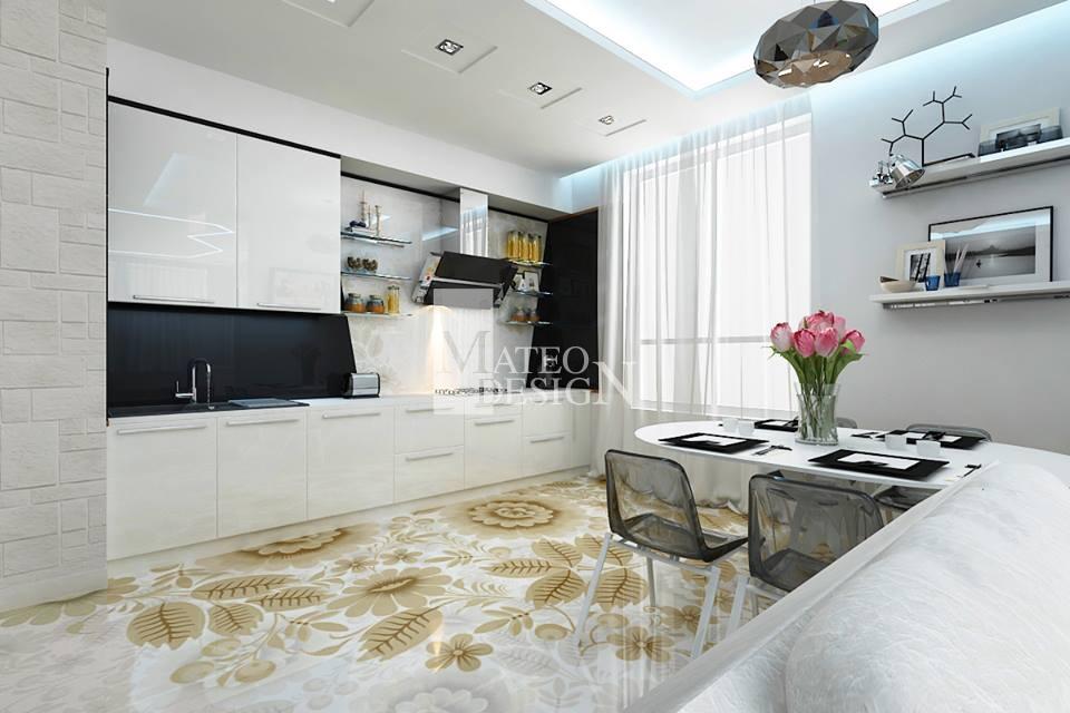 Tylko na zewnątrz Grafika w kuchni - Mateo Design - Szklarz Warszawa | Panele LN46